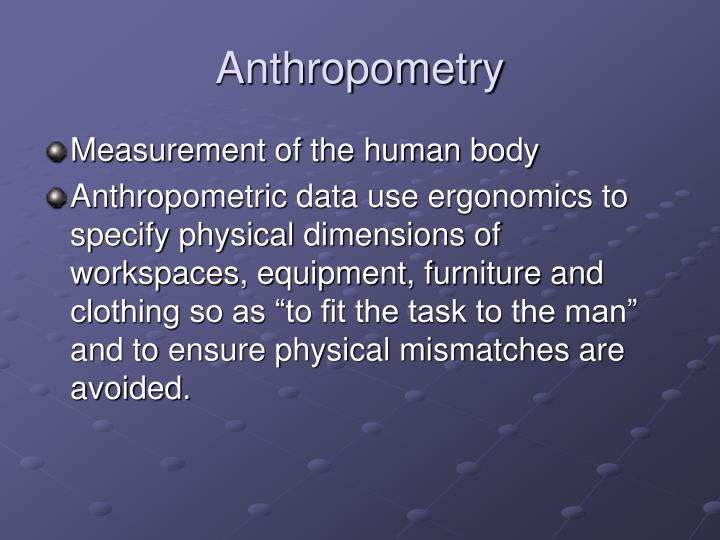 Anthropometry