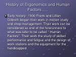 history of ergonomics and human factors