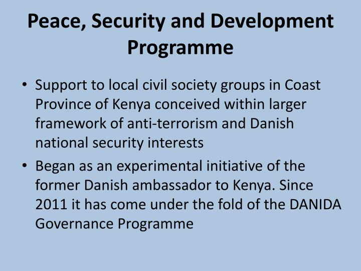 Peace, Security and Development Programme