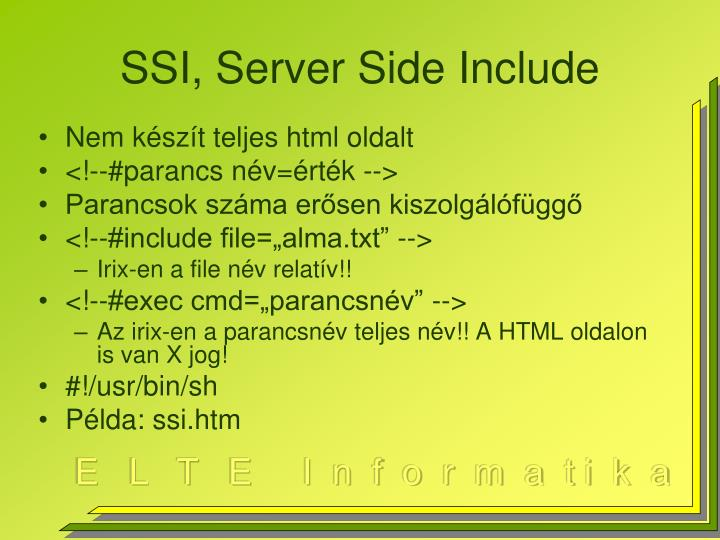 SSI, Server Side Include