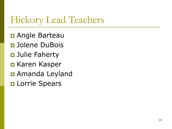 Hickory Lead Teachers