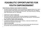 feasibility opportunities for youth empowermrnt