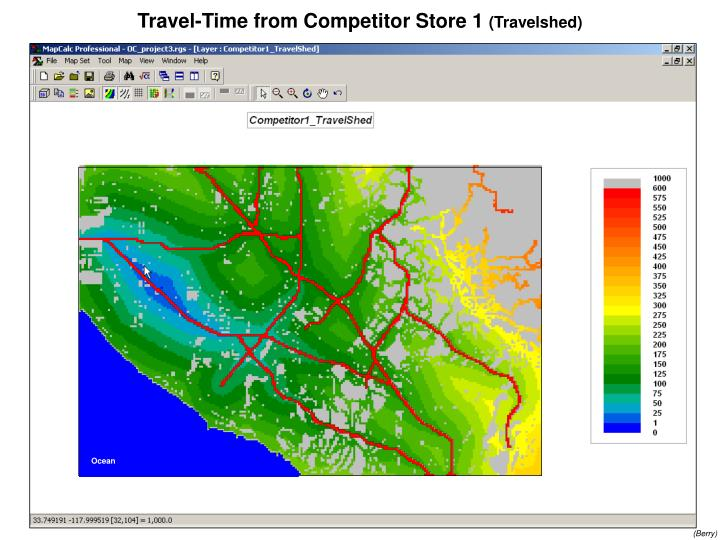 Travel-Time from Competitor Store 1