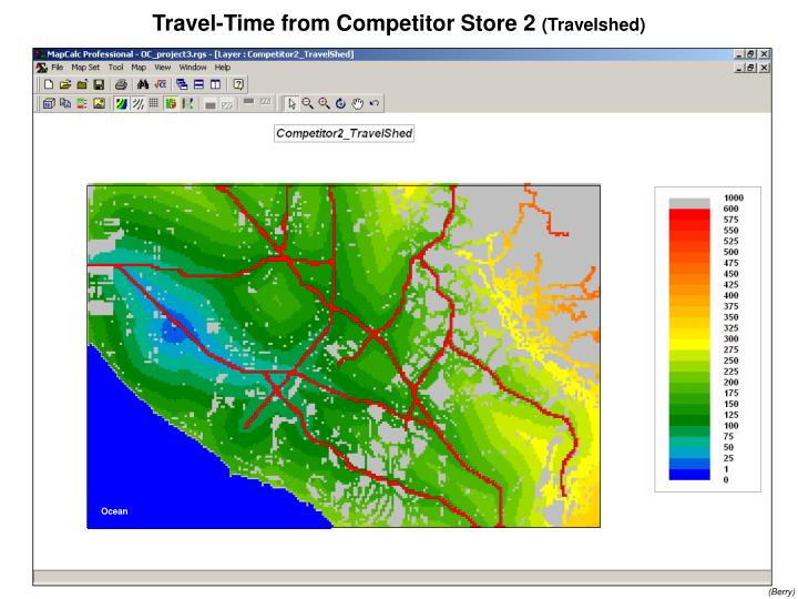 Travel-Time from Competitor Store 2
