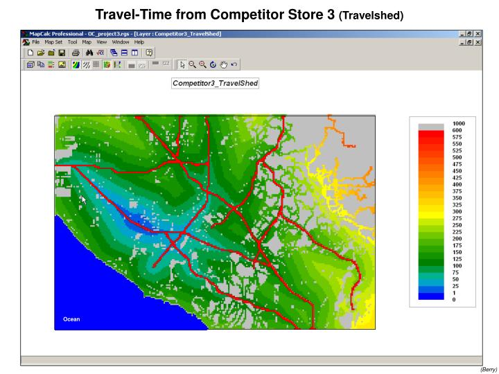 Travel-Time from Competitor Store 3