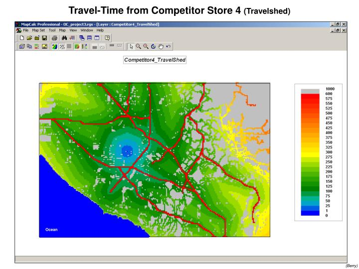 Travel-Time from Competitor Store 4