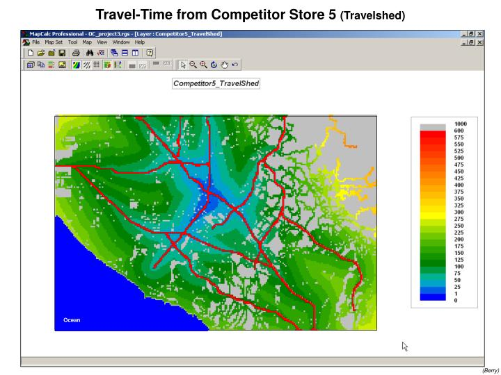 Travel-Time from Competitor Store 5