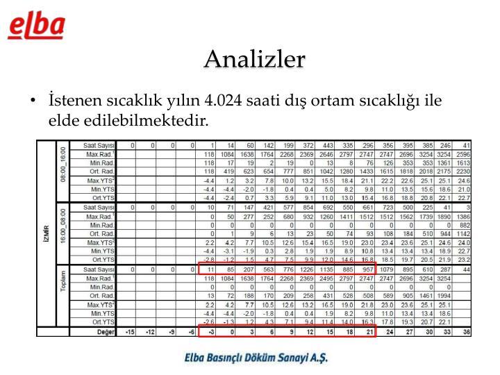 Analizler