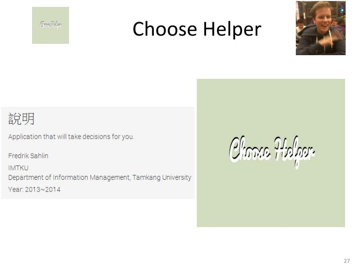 Choose Helper