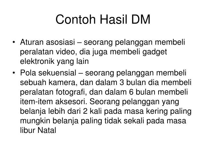 Contoh Hasil DM