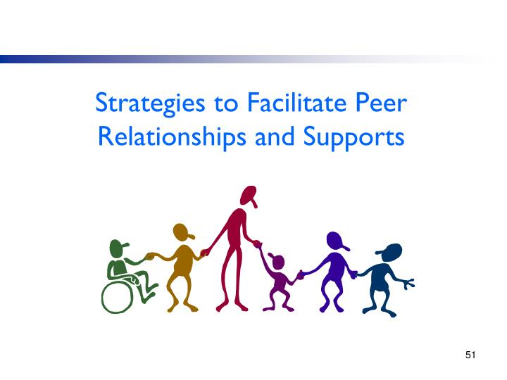 Strategies to Facilitate Peer Relationships and Supports