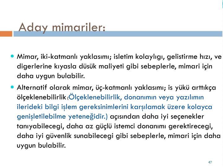 Aday mimariler: