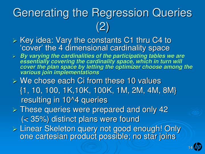 Generating the Regression Queries (2)