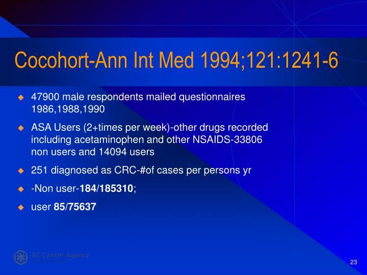 Cocohort-Ann Int Med 1994;121:1241-6