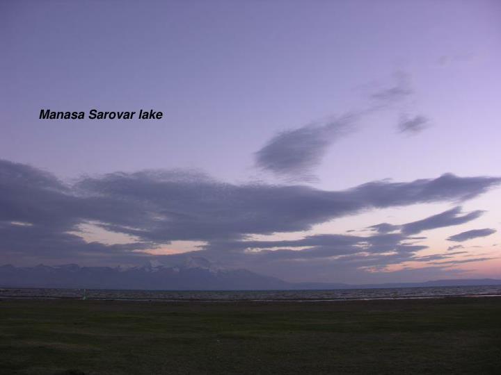 Manasa Sarovar lake
