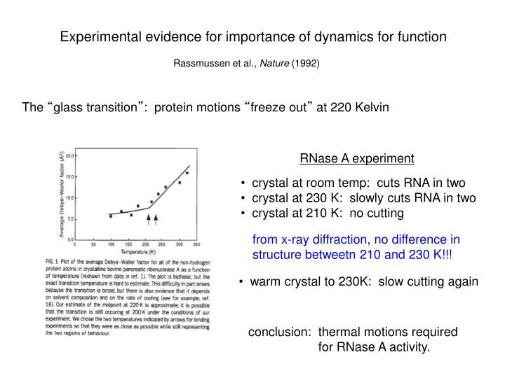 RNase A experiment