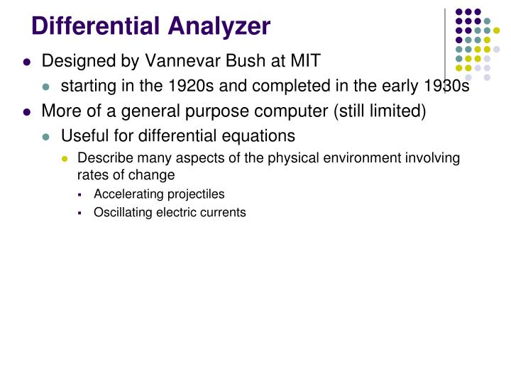Differential Analyzer