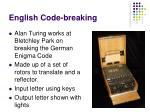 english code breaking