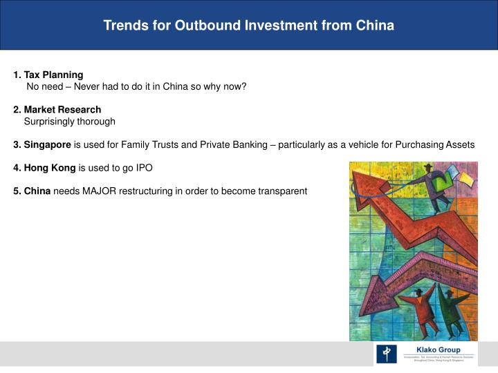 Trends for Outbound Investment from China