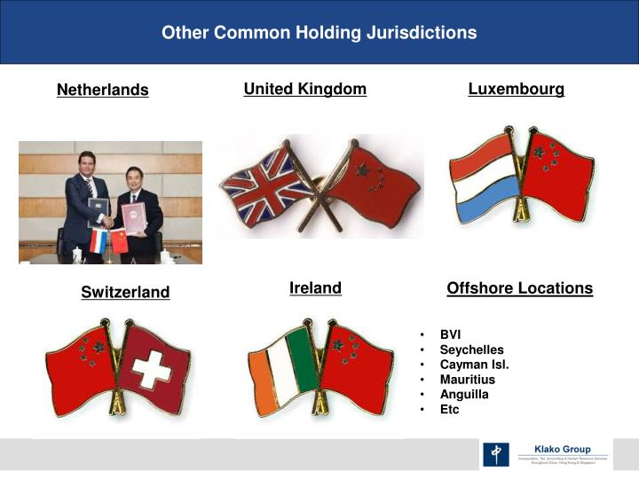 Other Common Holding Jurisdictions