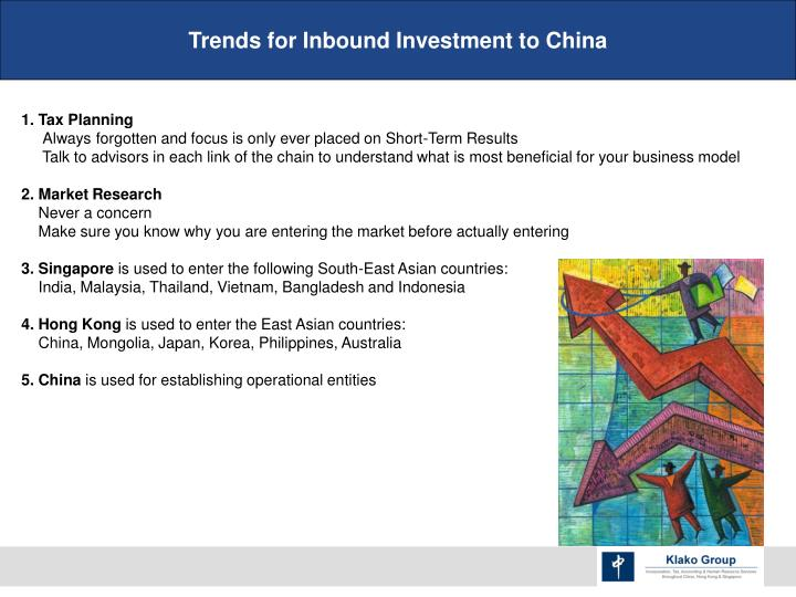 Trends for Inbound Investment to China