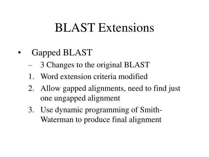 BLAST Extensions