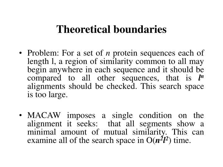 Theoretical boundaries