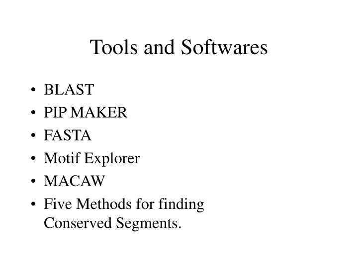 Tools and softwares1