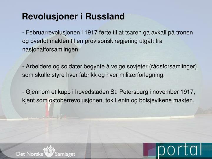 Revolusjoner i Russland