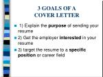 3 goals of a cover letter