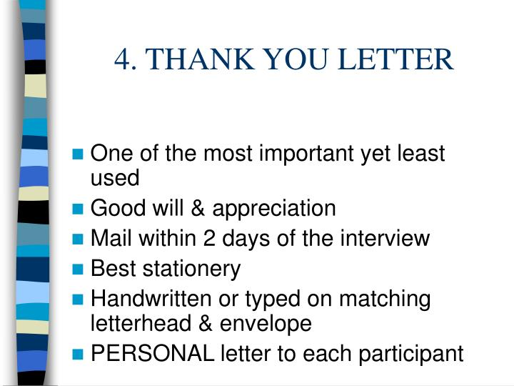 4. THANK YOU LETTER