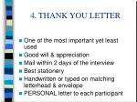 4 thank you letter