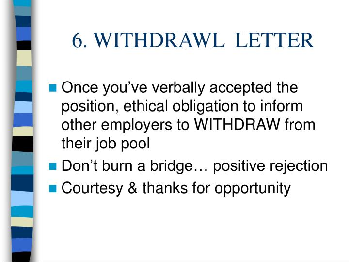 6. WITHDRAWL  LETTER