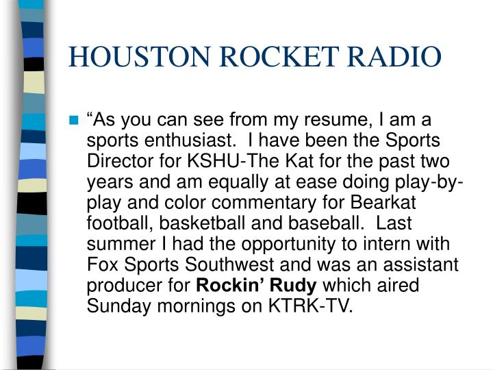 HOUSTON ROCKET RADIO
