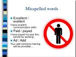 misspelled words1