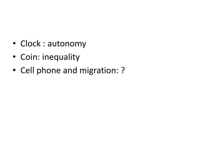 Clock : autonomy