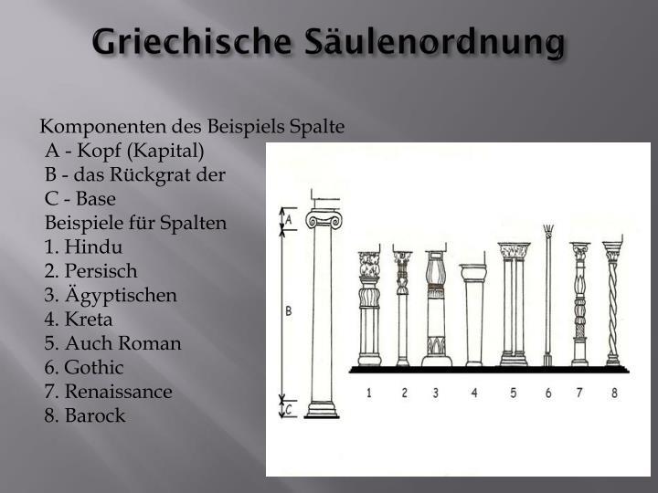 Griechische Säulenordnung