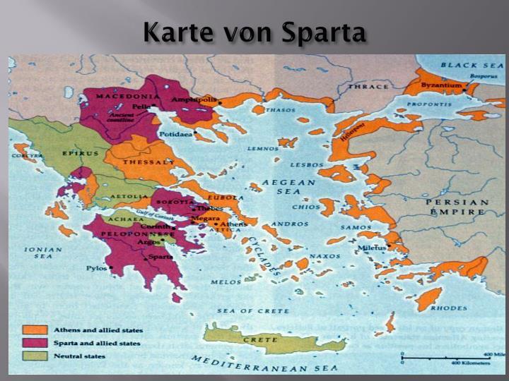 Karte von Sparta