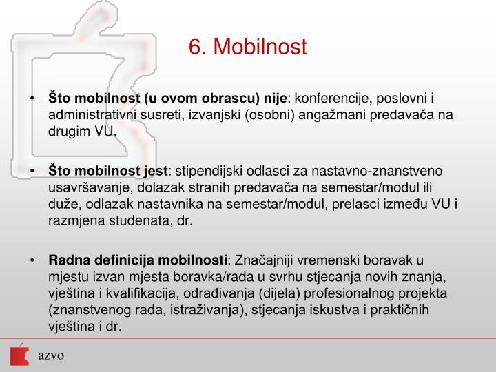 6. Mobilnost
