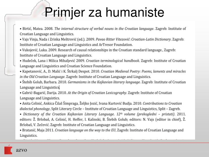 Primjer za humaniste