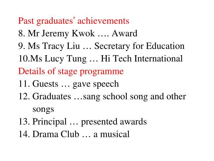 Past graduates