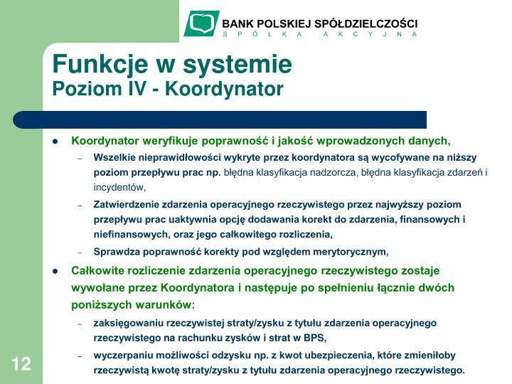 Funkcje w systemie