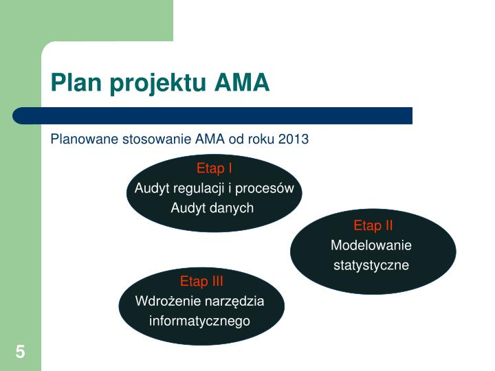 Plan projektu AMA