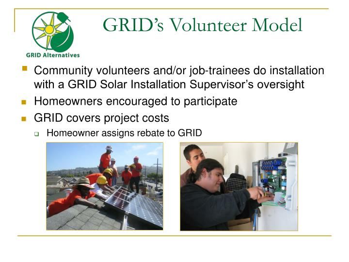 GRID's Volunteer Model