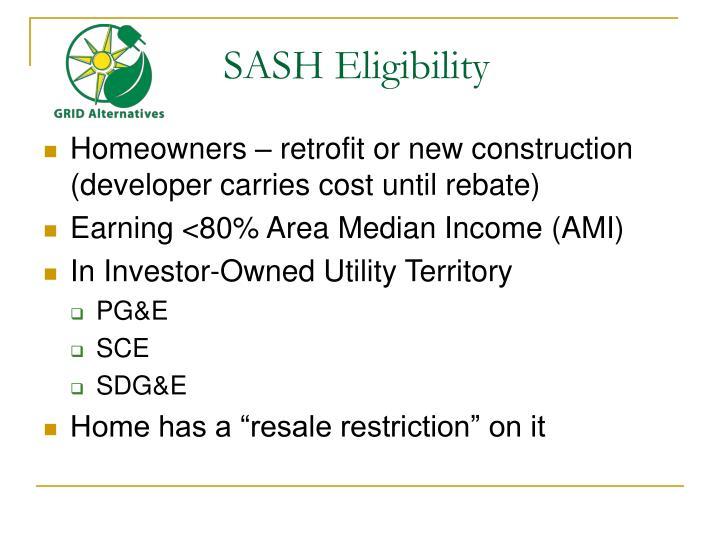 SASH Eligibility