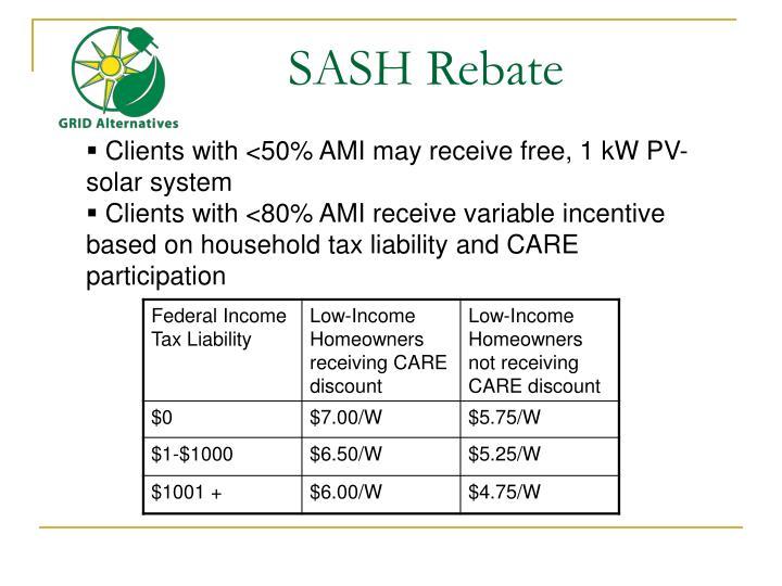 SASH Rebate