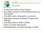 sash single family affordable solar homes program