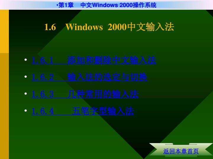 1.6    Windows  2000