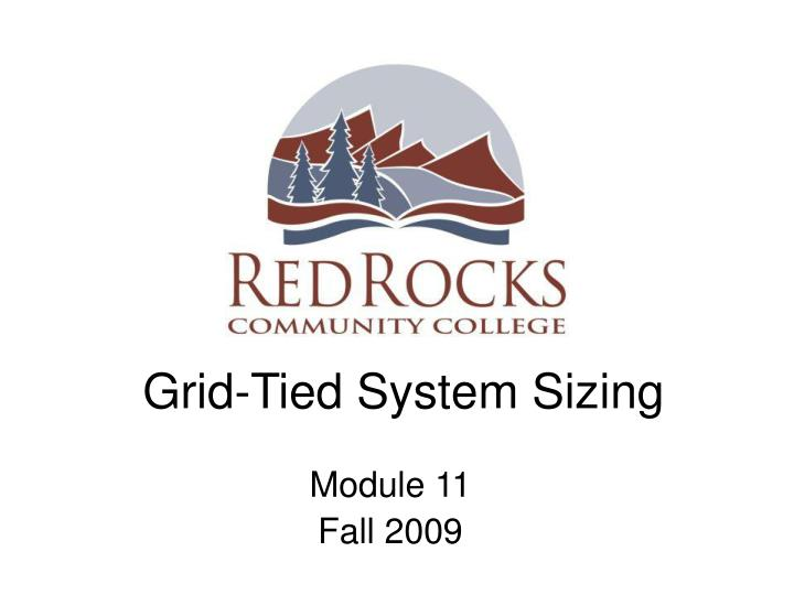 Grid tied system sizing