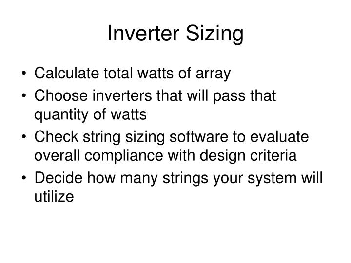 Inverter Sizing